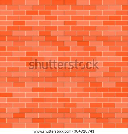 Royalty Free Seamless Brick Wall Orange Pattern