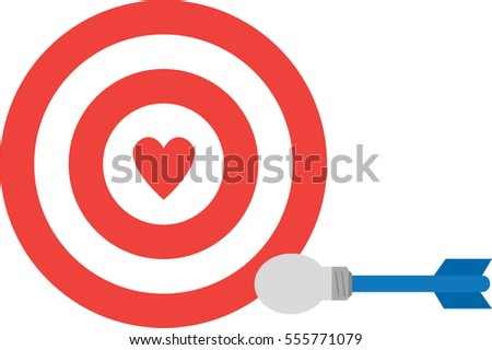 Love darts vector download free vector art stock graphics images vector red bullseye with red heart and light bulb dart altavistaventures Images