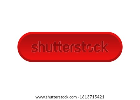 Vector red buttons isolated. Blank red menu button. Click icon vector. Subscribe button icon. Round button. Red button. EPS 10