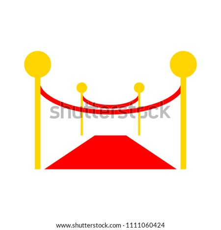 vector red carpet illustration, event celebrity - movie isolated - Shutterstock ID 1111060424