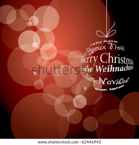 vector red christmas background, eps 10 file