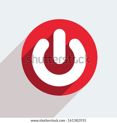 vector red circle icon  on gray