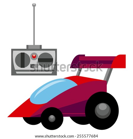 Vector Red Control Remote Car Toy Isolated Stock photo ©
