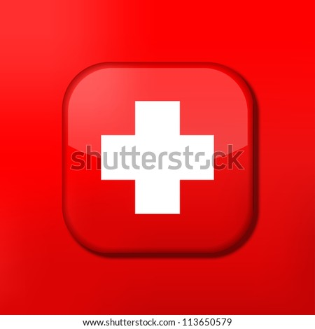 Vector red cross icon. Eps10. Easy to edit