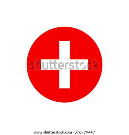 vector red cross icon red