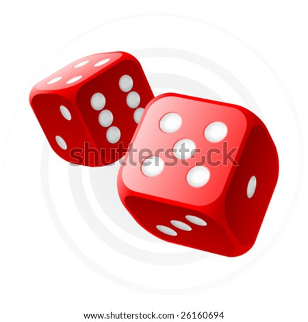 vector red dices