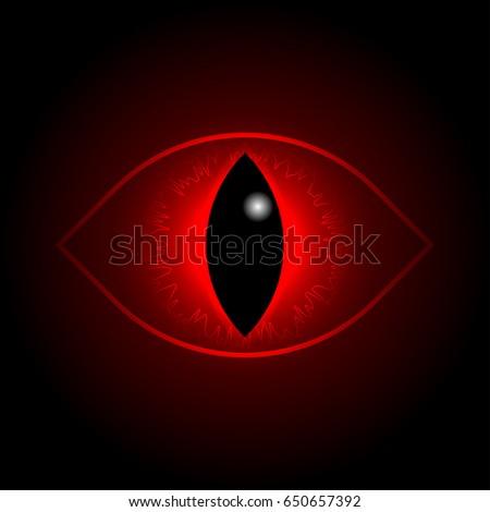 vector red dragon eye