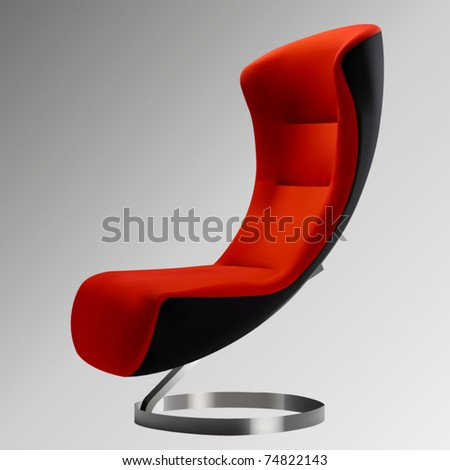 vector red egg chair
