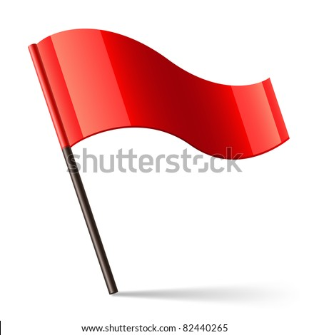 Vector Red Flag Icon