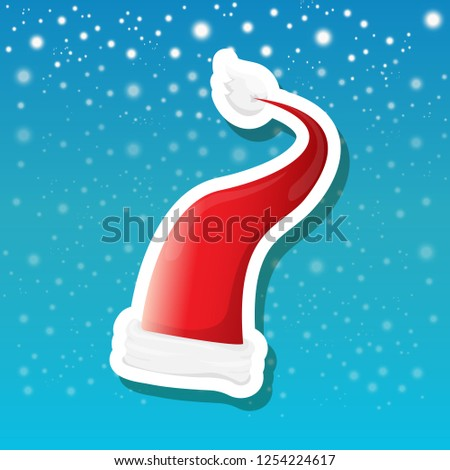 vector red funky santa claus