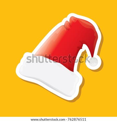 vector red funky santa claus