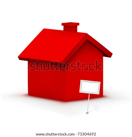 vector red house