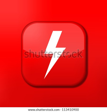 Vector red  lightning icon. Eps10. Easy to edit