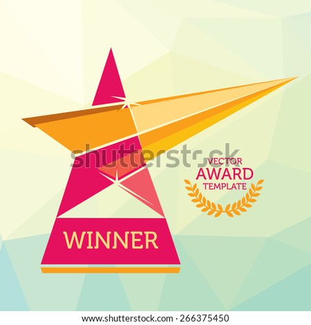 Vector Red Nomination Award Logo Template
