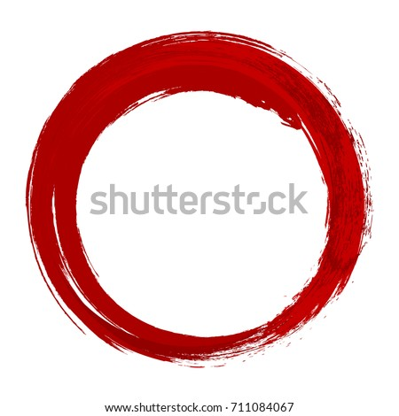 vector red of grunge circle