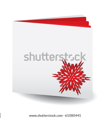vector red papered book with