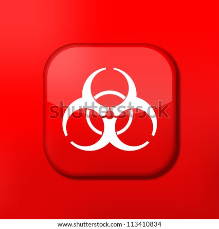 Vector red radiation icon. Eps10. Easy to edit