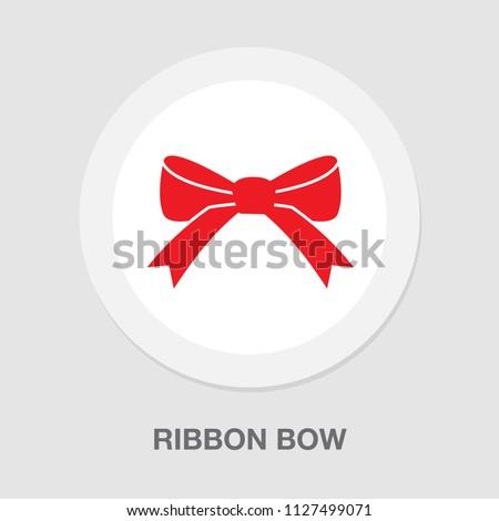 vector red ribbon bow illustration - christmas holiday decoration symbol. celebration icon