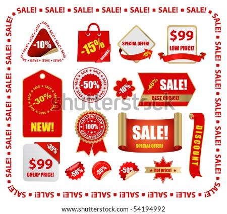 vector red sale design elements