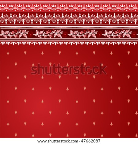 Vector red sari background