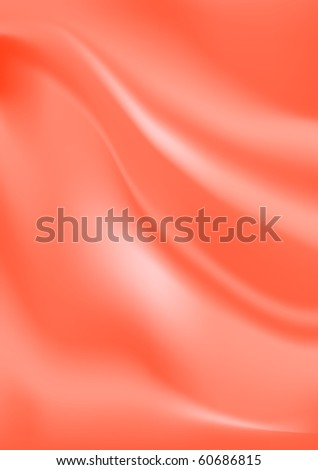 Vector red silk background - stock vector