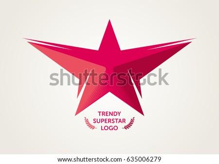Vector Red Superstar Logo