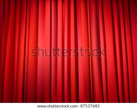 vector red theater curtain