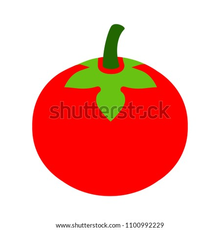 vector red tomato illustration - veggie ripe, organic food