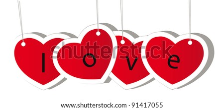 vector red valentine heart isolation over white background