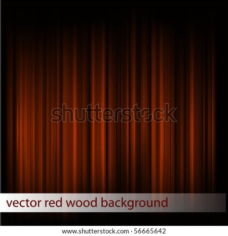 vector red wood texture - stock vector