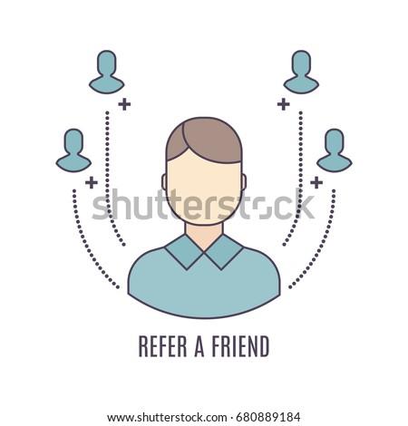 vector refer a friend icon in