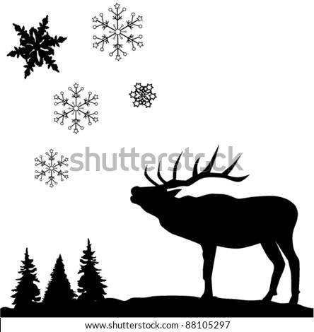 Reindeer silhouette vector reindeer silhouette and