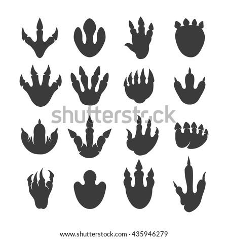 vector reptile footprints