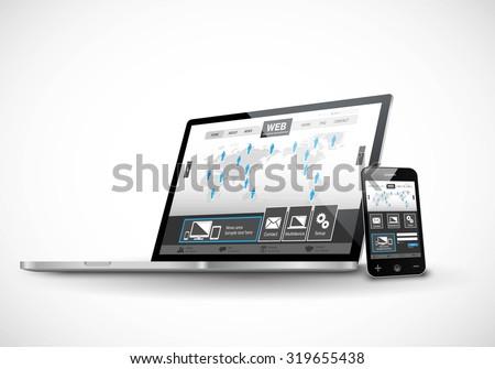 Vector responsive web design