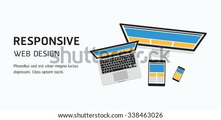 vector responsive web design in