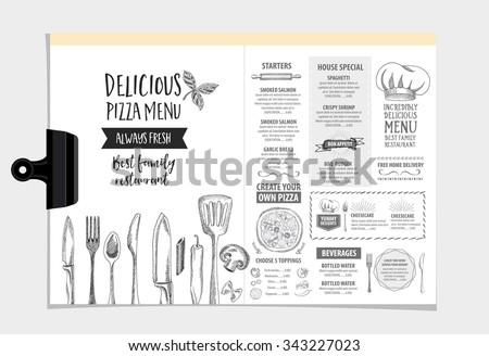 vector restaurant brochure