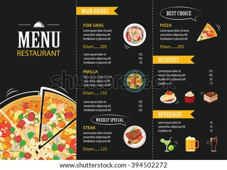 Free Restaurant Menu Card Vector Design - Download Free Vector Art ...