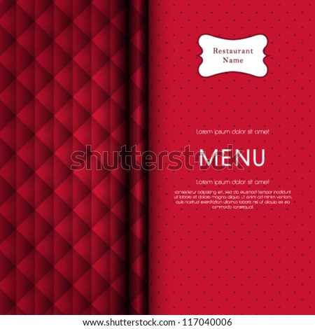 Vector restaurant menu cover design