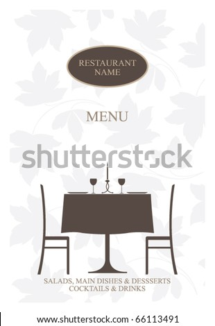 Vector. Restaurant menu design. - stock vector