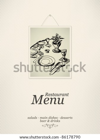 Vector Restaurant menu design