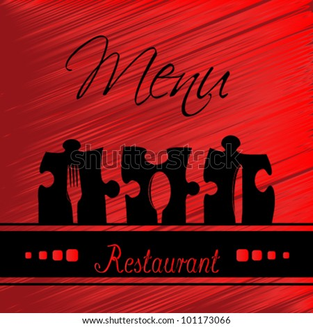 Vector restaurant menu design - red template brochure