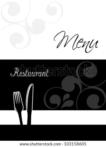Vector restaurant menu design - template brochure