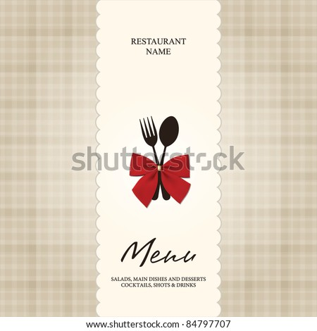 Vector. Restaurant or cafe menu design - stock vector