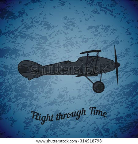 vector retro airplane ww1 on