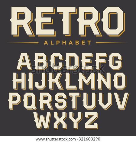 vector retro alphabet. vintage...