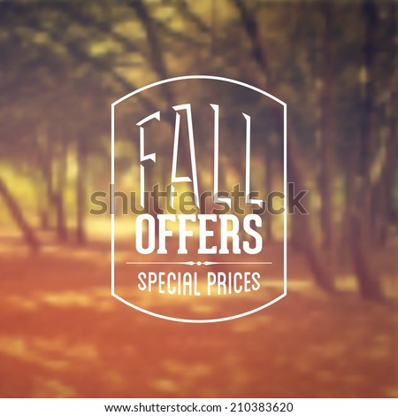 vector retro autumn sale banner