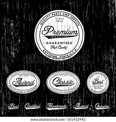 Vector retro badge and label set Great for vintage packaging and labels Easy to edit