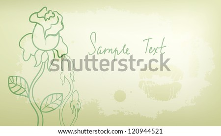 Vector retro banner with hand drawn roses