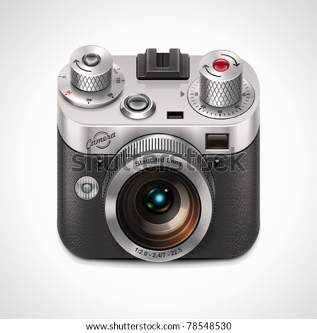 Vector retro camera XXL icon Stockfoto ©