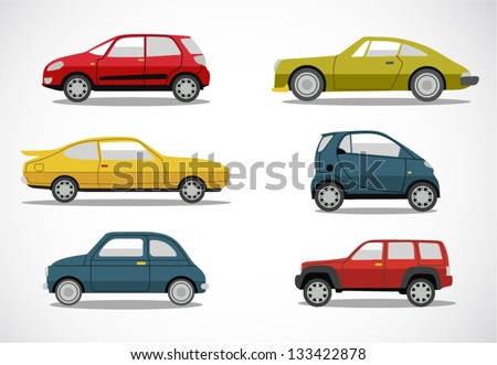 Shutterstock Vector retro car icon set